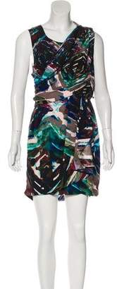 Ali Ro Abstract Print Silk Dress