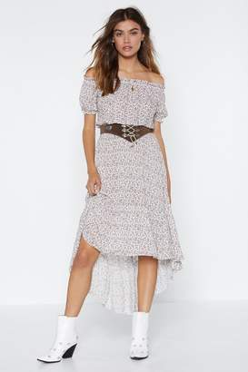 Nasty Gal Wipe the Floral With 'Em Off-the-Shoulder Dress