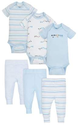 N. Wonder Nation Mix Match Bodysuits & Pants Outfit Set, 6pc (Baby Boy)