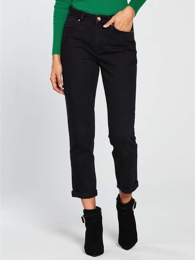 Girlfriend Straight Leg Jean - Black