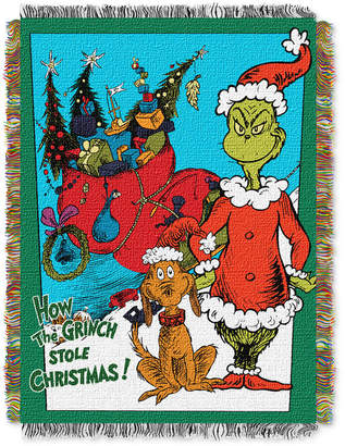 """Northwest Company Dr. Seuss 48"""" x 60"""" Triple Woven Tapestry Throw"""