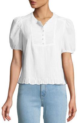 MiH Jeans Albany Short-Sleeve Poplin Top