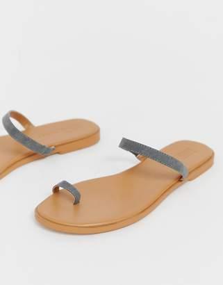 Asos Design DESIGN Freedom toe loop flat sandals
