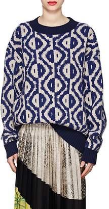 Dries Van Noten Women's Wool-Cashmere Geometric-Pattern Sweater
