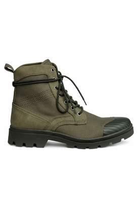 H&M Chunky-soled Boots - Khaki green - Men