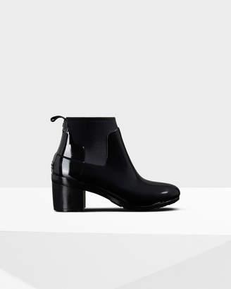 Hunter Women's Refined Gloss Mid Heel Boots