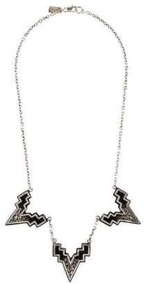 Lady Grey Ombré V Collar Necklace
