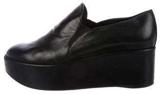 Stuart Weitzman Leather Platform Loafers
