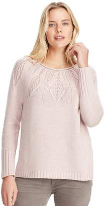 Chaps Women's Stitched Leaf Crewneck Sweater