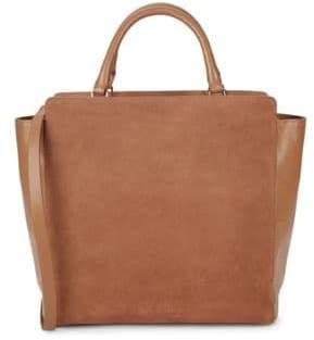 Halston Leather Tote Shoulder Bag