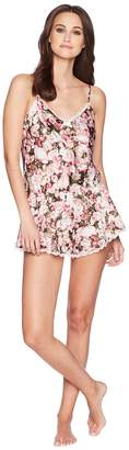 Kate Spade Photoreal Bouquet Satin Romper Women's Jumpsuit & Rompers One Piece