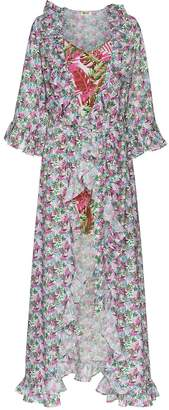 All Things Mochi floral print maxi wrap dress