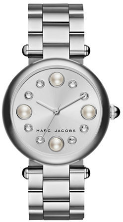 Marc Jacobs Marc Jacobs Pearl and Crystal Stainless Steel Bracelet Watch