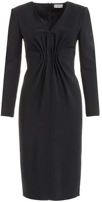 WtR - Felia Black Cady Bodycon Midi Dress