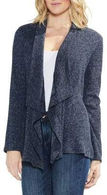 Vince Camuto Estate Jewels Ribbed Draped Cardigan