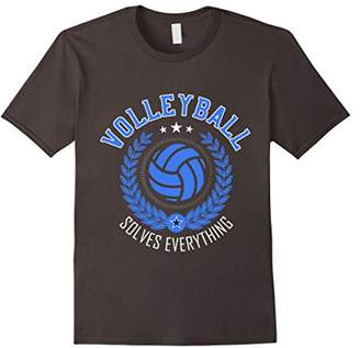 Volleyball Solves Everything T-Shirt | Funny Volleyball Tee
