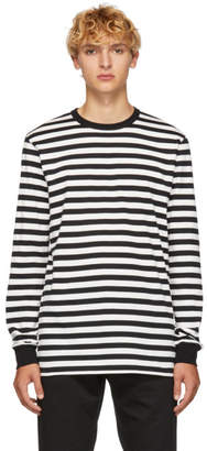 Golden Goose Black and White Stripes T-Shirt