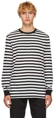 Golden Goose Black and White Stripes T-Shirt