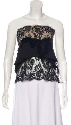Valentino Pleated Lace Top