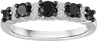 Black Diamond MODERN BRIDE 3/4 CT. T.W. White and Color-Enhanced Wedding Band