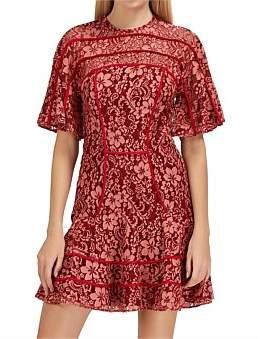 Keepsake Dreamers Lace Mini Dress.