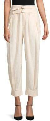 Free People Double Buckle Cotton Pants