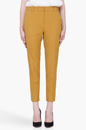 3.1 Phillip Lim Mustard Cropped Pencil Trousers