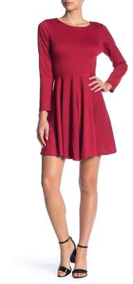 Collective Concepts Heathered Knit Fit & Flare Dress