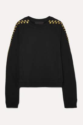 Haider Ackermann Metallic Embroidered Stretch-cotton Jersey Sweatshirt - Black
