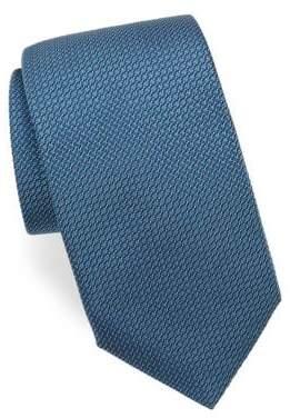 Corneliani Weave-Print Silk Tie