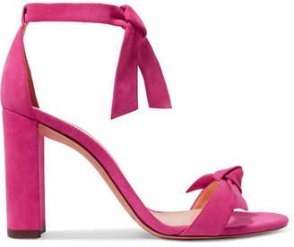 Alexandre Birman Clarita Bow-embellished Suede Sandals - Fuchsia