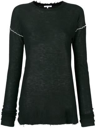 Helmut Lang distressed edge sweater