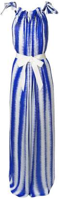 Maison Rabih Kayrouz striped tie waist maxi dress
