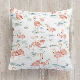 Flamingo Frenzy Square Pillow