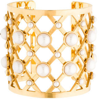 Tory BurchTory Burch Glass Pearl Wide Cuff
