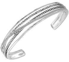 Effy 925 Sterling Silver 0.34 TCW Diamond Cuff Bracelet