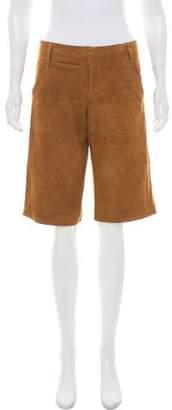 Ralph Lauren Suede Mid-Rise Shorts
