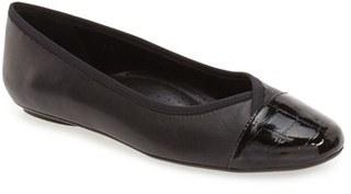 Women's Vaneli 'Sitta' Cap Toe Ballet Flat $134.95 thestylecure.com