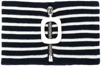 J.W.Anderson striped mock turtleneck collar