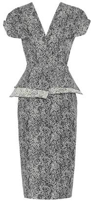 Roland Mouret Wilder cotton-blend peplum dress