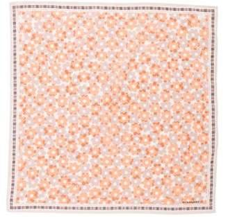 Burberry Floral Print Pocket Square