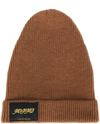 Stella McCartney logo patch beanie hat