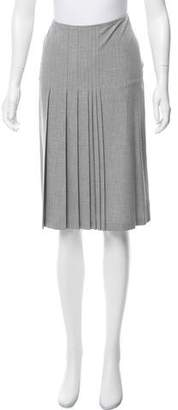Joseph Pleat-Accented Knee-Length Skirt