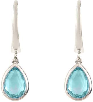 Latelita London - Pisa Mini Teardrop Earring Silver Blue Topaz