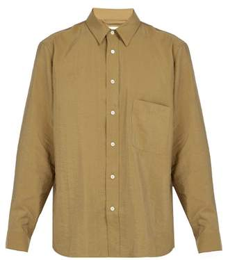 Lemaire - Patch Pocket Silk Blend Shirt - Mens - Beige