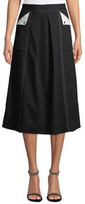 Badgley Mischka A-Line Cargo Skirt