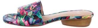 Pour La Victoire Printed Slide Sandals