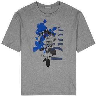 Christian Dior Grey Printed Cotton T-shirt