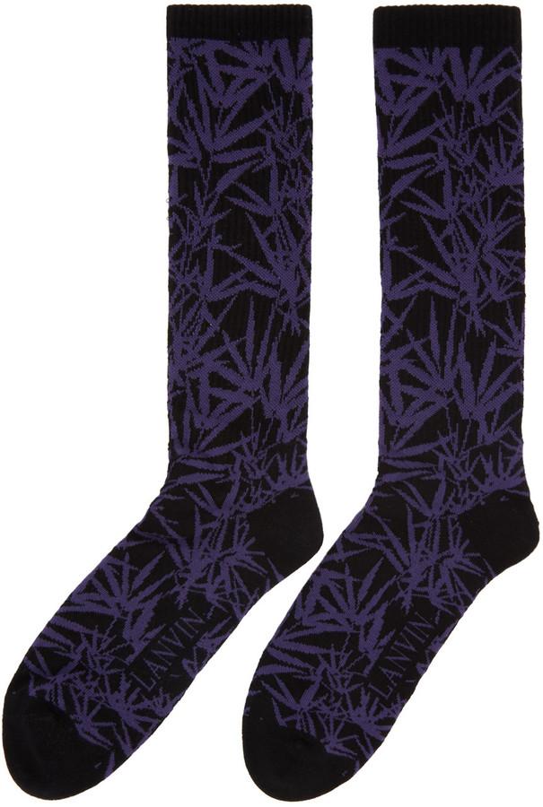 Lanvin Black Jacquard Socks 3