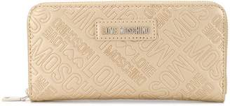 Love Moschino logo embossed wallet